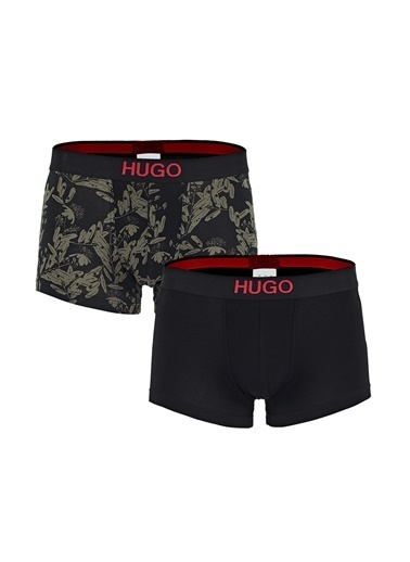 Hugo Boss  Pamuklu 2 Pack Boxer Erkek Boxer 50443479 302 Haki